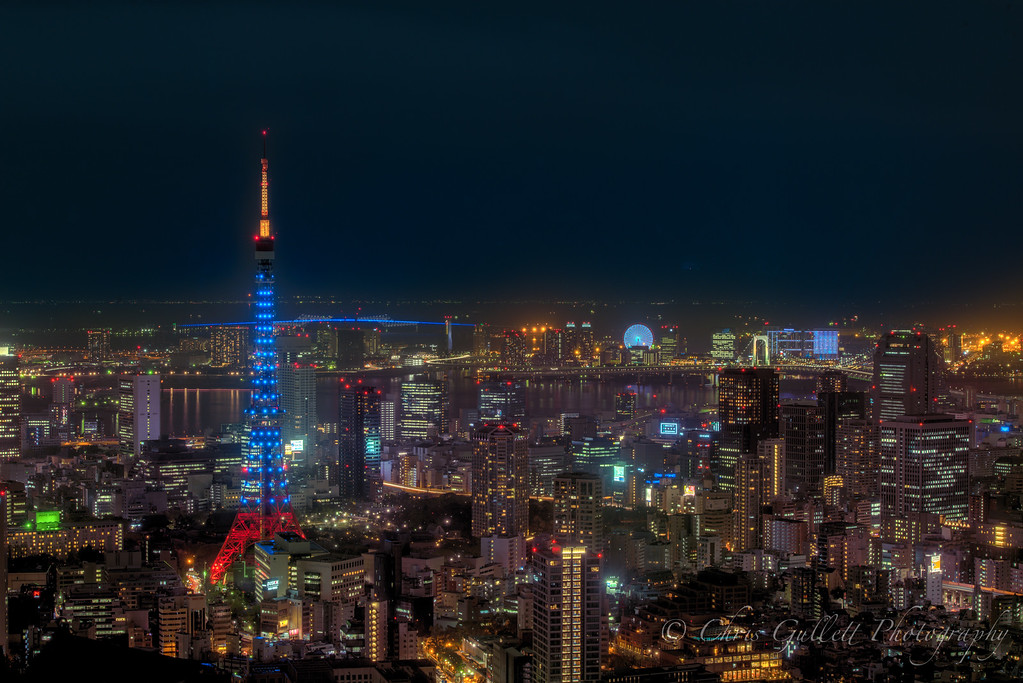 Tokyo Tower In Blue