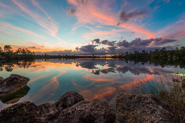 Everglades National Park colorful Sunset