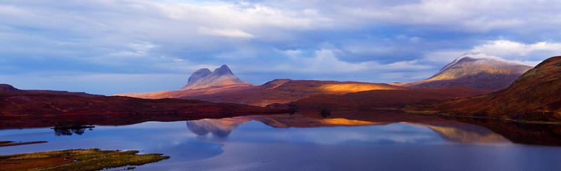 Suilven and Canisp. West coast of Scotland. John Chapman.