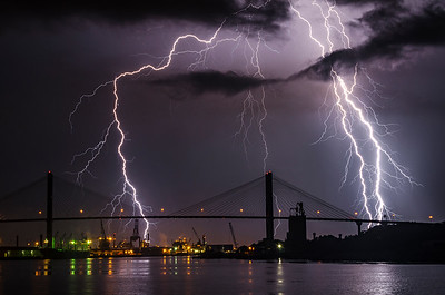 Lightning Over Savannah