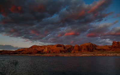 Sunset on Lake Powell, near mile marker 67 Utah