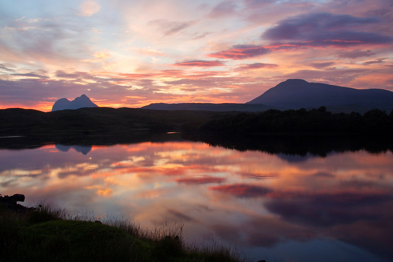 Suilven and Canisp at Assynt Sutherland. Picture in the Local Newspaper.