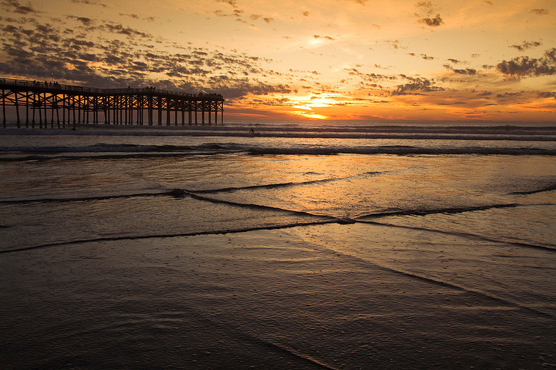 Sunset at Crystal Pier