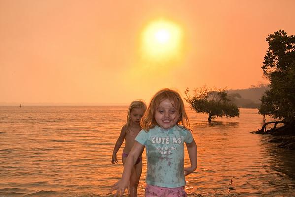 Girls at Sunset