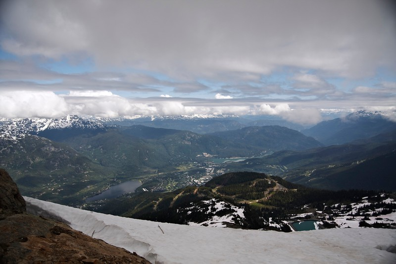 Looking down toward Blackcomb from Whistler
