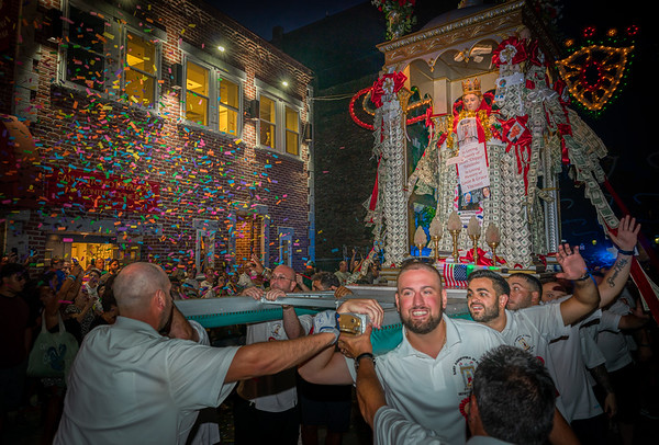St. Agrippina marches through Boston's North End to streams of confetti