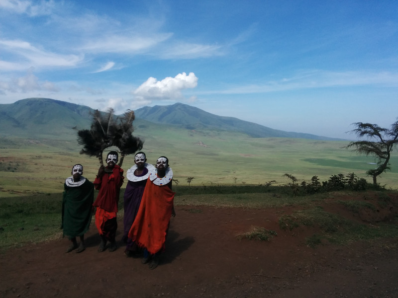 Passing by some excited Masai children dressed up with ceremonial paint.  Possibly the luckiest photographic moment I've ever experienced.