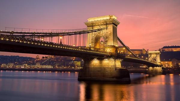 Sunset Along the Danube