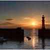 Newhaven harbour midsummer sunset, Edinburgh