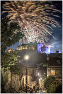 fireworks from the Military Tattoo over Edinburgh Castle