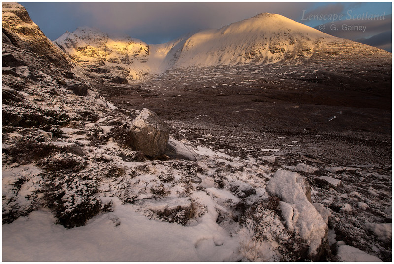 early morning sunlight on An Teallach ('The Forge')
