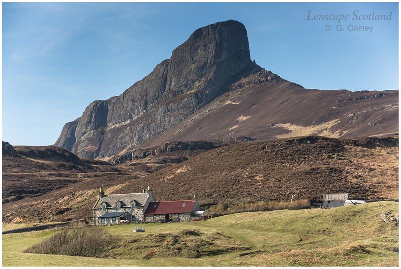 the distinctive landmark of An Sgurr on the Isle of Eigg