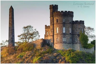 evening sunshine on Old Calton Jail, Calton Hill, Edinburgh