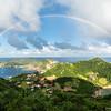 rainbow over Islands of the Saints