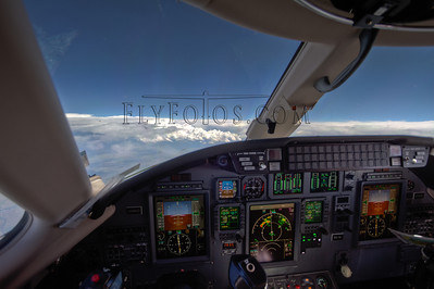Citation Excel cruising above thunderstorms!