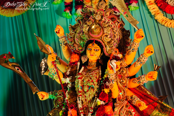দুর্গাপূজা  - Durga Puja festival epitomises the victory of Good over Evil. In Bengal, Durga is worshipped as Durgotinashini, the destroyer of evil and the protector of her devotees.