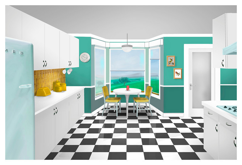 SET DESIGN | SketchUp/Photoshop<br /> Commercial: Coke