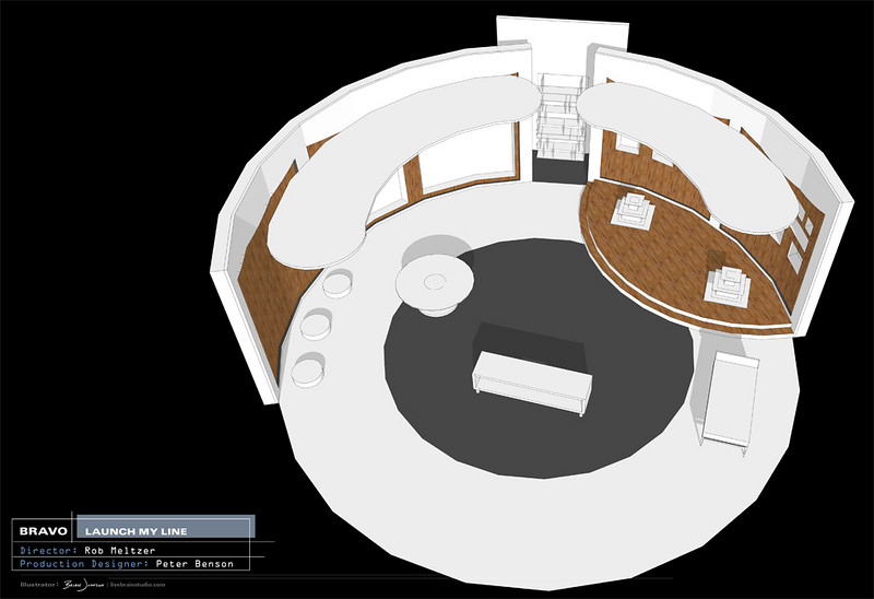SET DESIGN | SketchUp<br /> Television: Launch My Line, Bravo Network