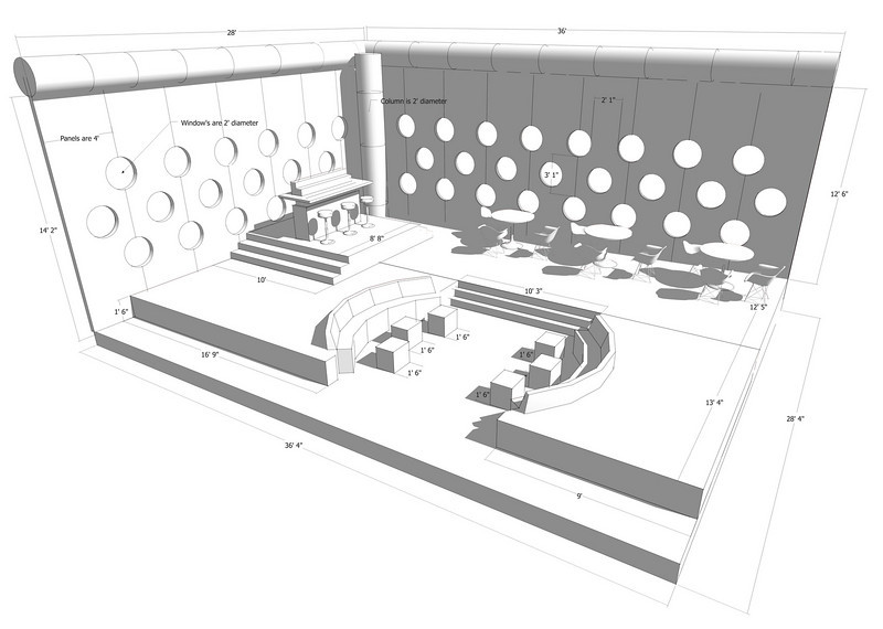 SET DESIGN | SketchUp<br /> Television: Top Chef