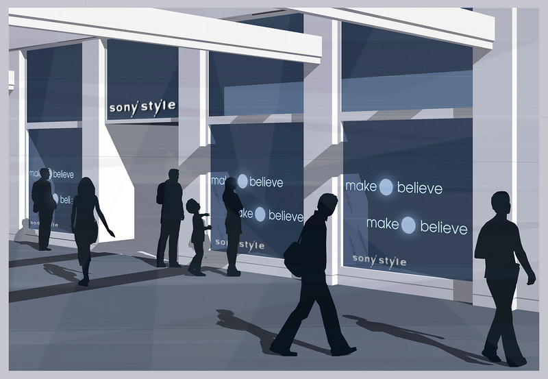 CONCEPT DESIGN | SketchUp<br /> Ad Campaign: Sony