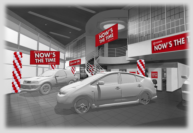 SET DESIGN | SketchUp/Photoshop<br /> Commercial: Toyota