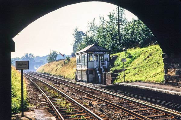 Wennington signal box, Sept 1985