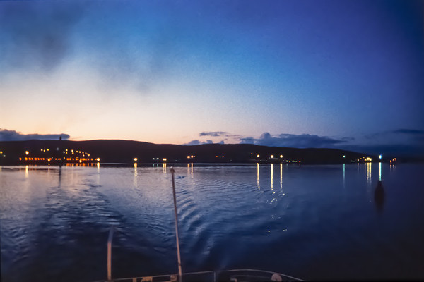 Leaving Lerwick, slide film, Oct 1989