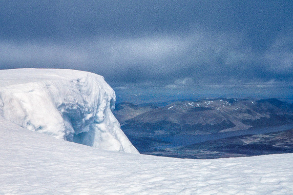 Looking north from the sumit of Ben Nevis, May 1989