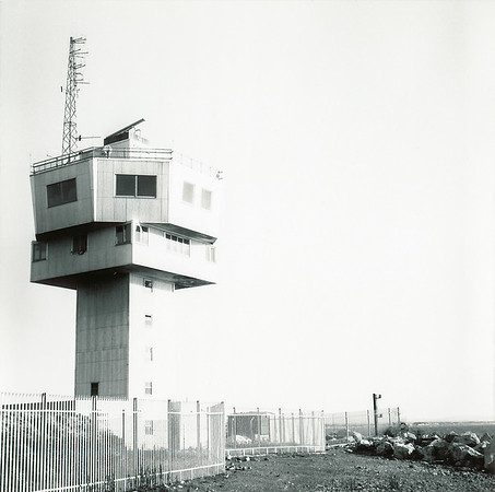 Mamiya c330, Ilford FP4 120 film. Crosby radar tower, August 1989.