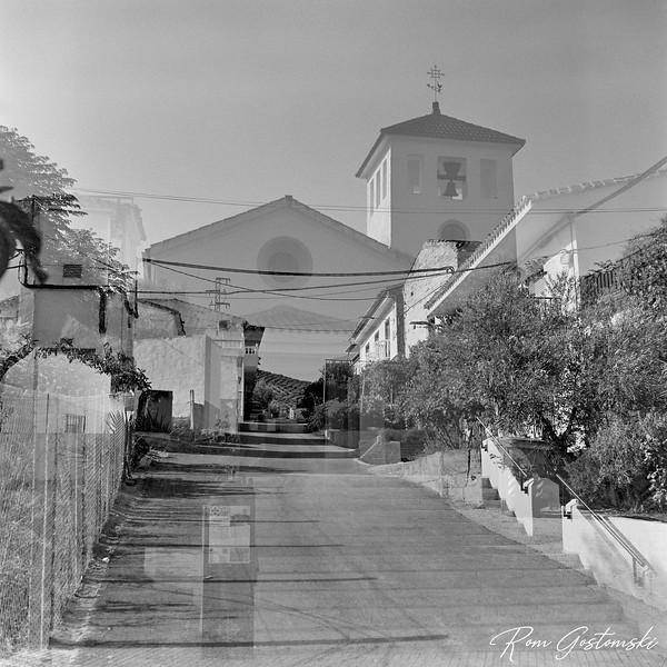 Double exposure -  Iglesia parroquial de la Inmaculada Concepcion