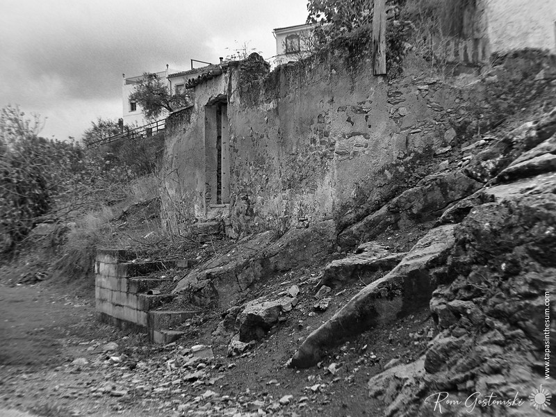 Ruins of an abandoned village house