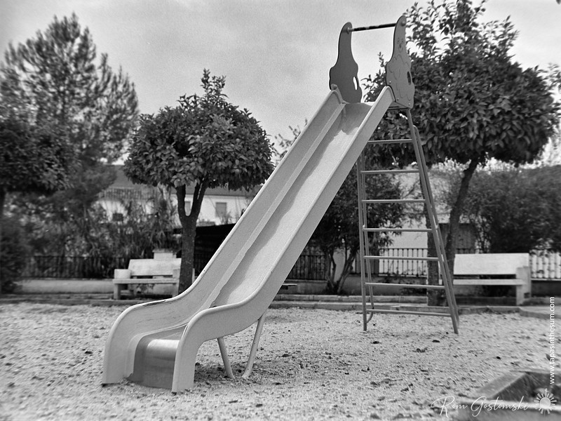 Childrens' play area - the slide