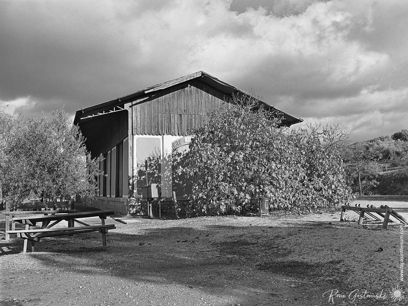 Vía Verde del Aceite - the goods shed at Estación de Alcaudete
