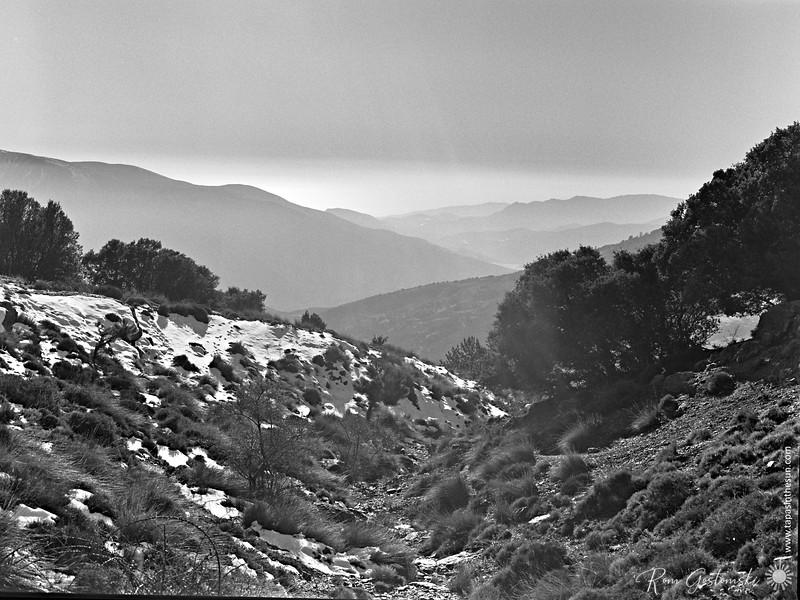 Mountains in the mist - Sierra Nevada