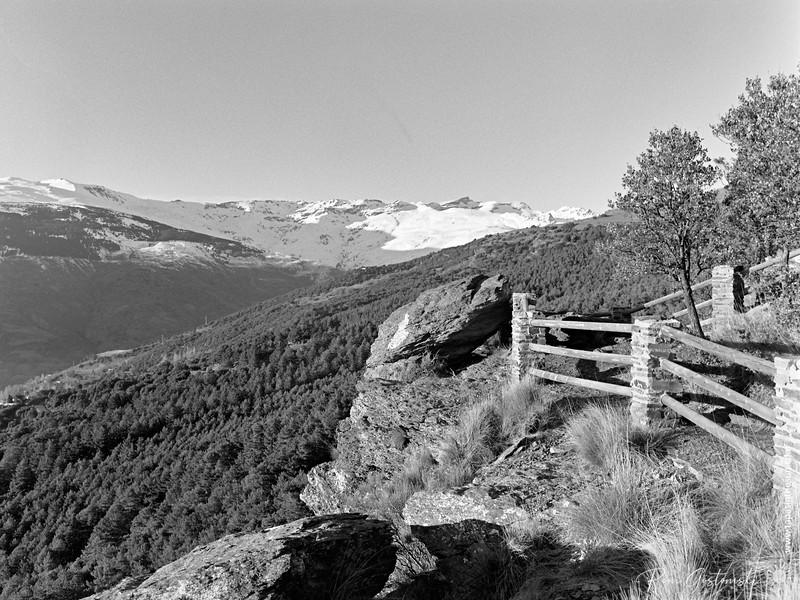 Viewing platform (mirador) in the Sierra Nevada