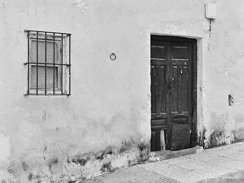 The old door and window