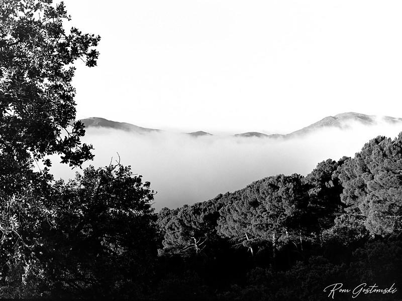 Cloud inversion in the Alpujarras