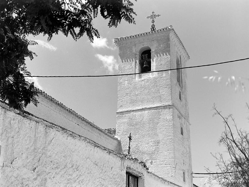 The church bell tower in Ferreirola