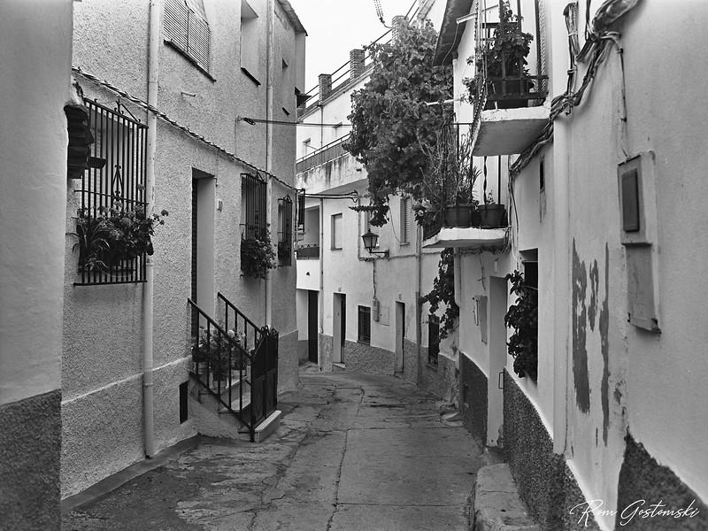Narrow street in Pitres