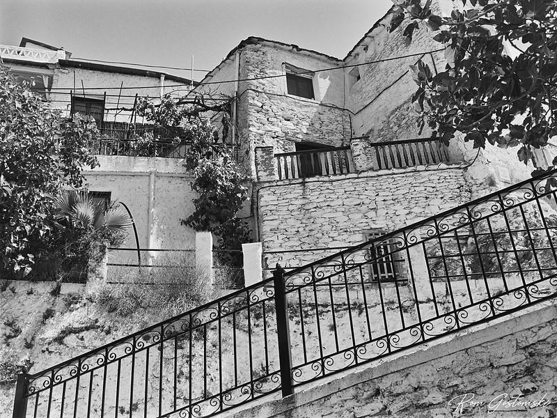 White village houses near Pitres
