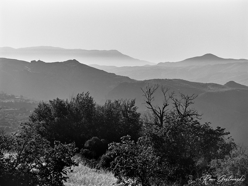 Misty Sierra Nevada mountains