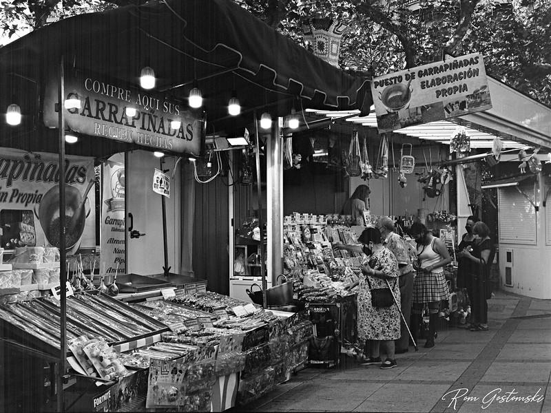 Candy stalls at fiesta - Cazorla