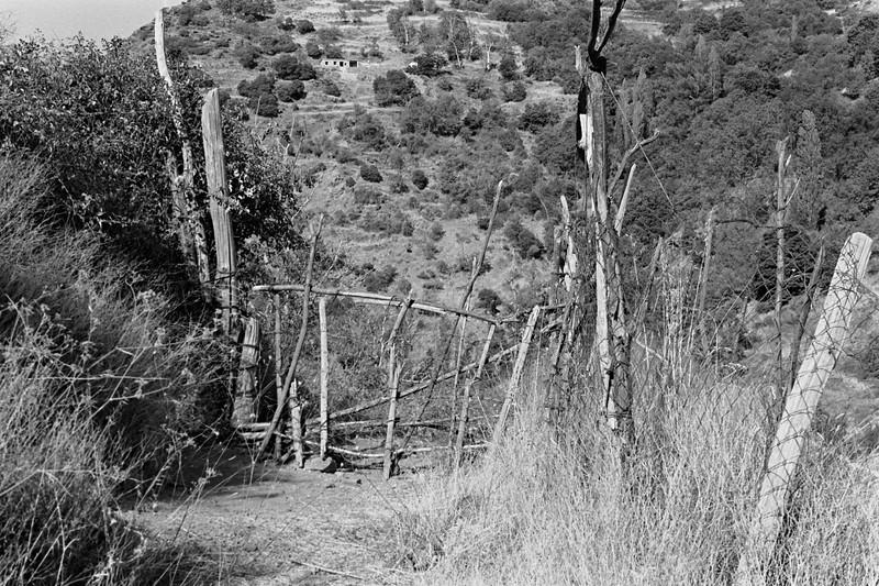 A rustic gate in the Alpujarras