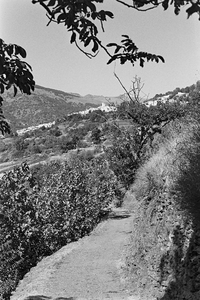 The footpath from Bubión to Capileira
