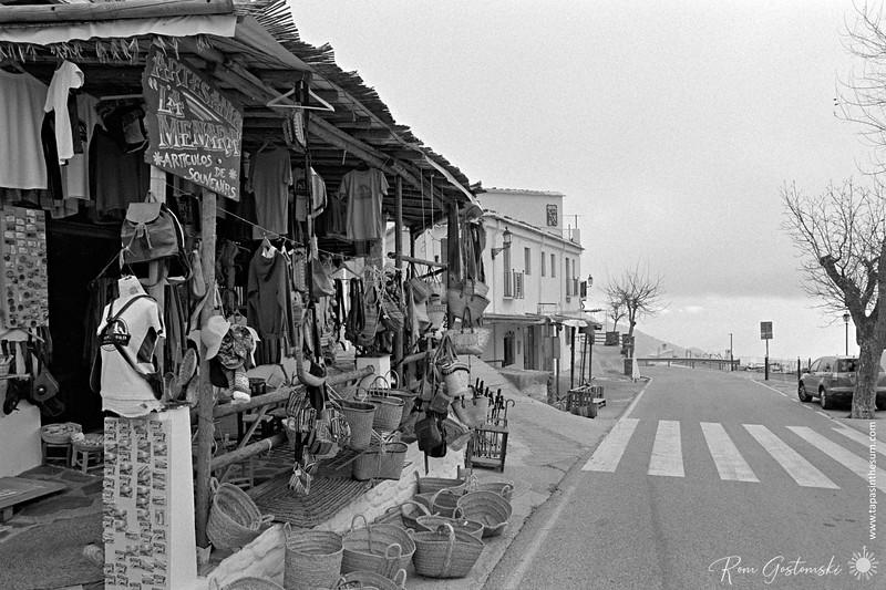 A souvenier shop on the main road through Capileira