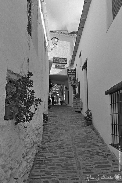 I love these narrow cobbled streets in Pampaneira