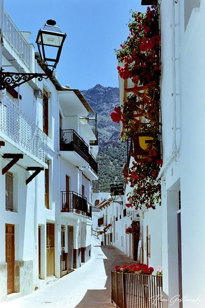 A narrow street in Trevélez