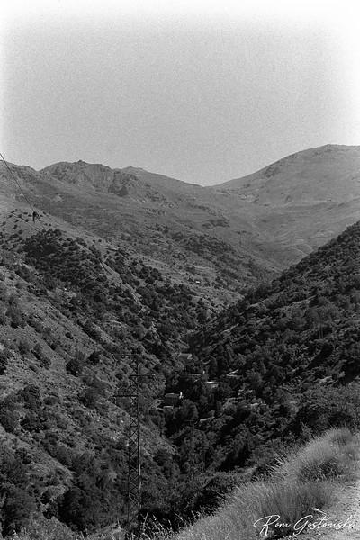The Poqueira valley - you can make out La Cebadilla