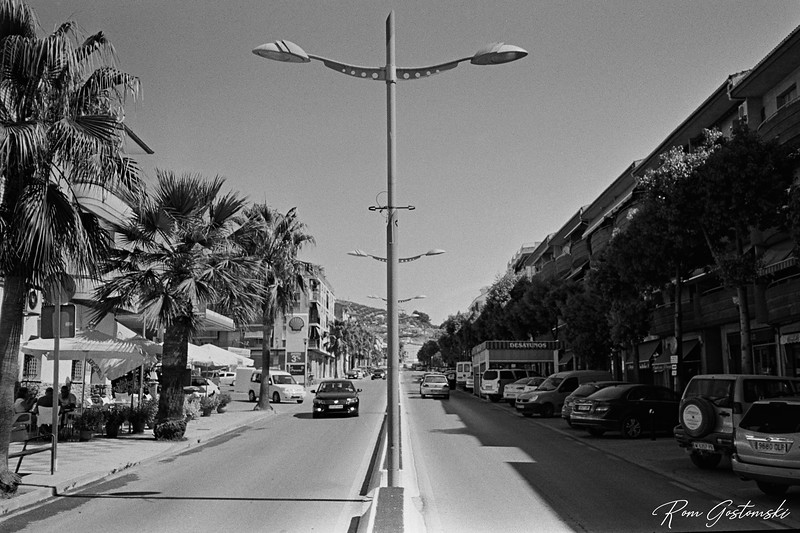 A main road in Alcaudete