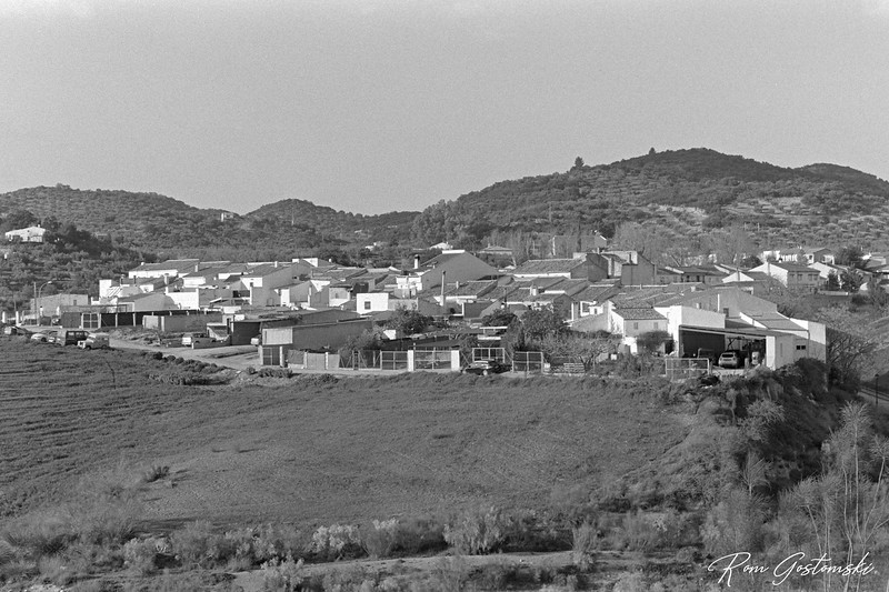 Village on a hill